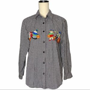 VTG Halloween Button Down Shirt